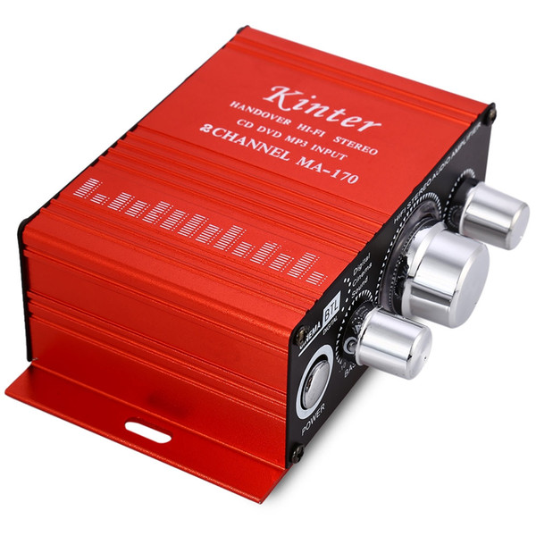 MA - 170 Mini 12V 20W Hi-Fi Stereo Amplifier Booster DVD MP3 Speaker for Car Motorcycle