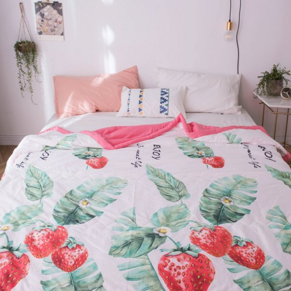 Thin Lightweight Blankets Air Conditioner For Double Summer Printed Air Conditioner 200/180X230CM Printed Comfortable