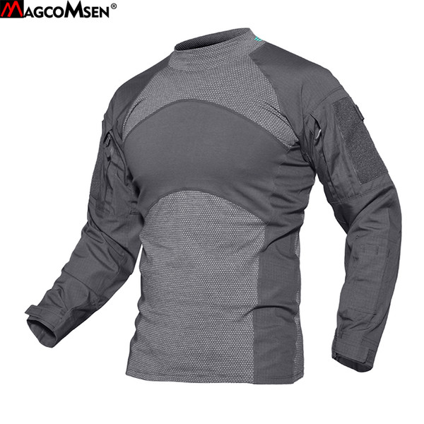 wholesale Mens T-shirts Long Sleeve Cotton Camouflage Tactical T Shirts Military Army Tshirts Man Airsoft Clothing YWWS-18-1