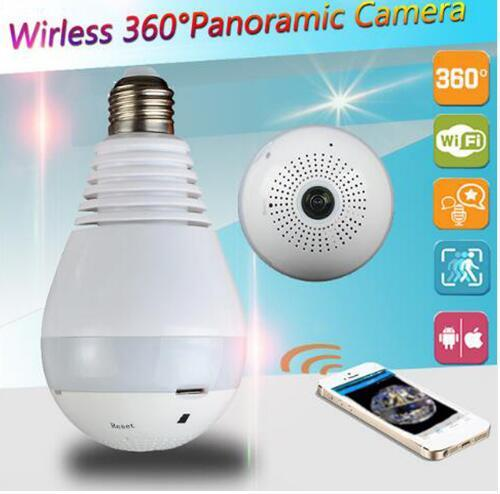 HD 1080 P Ampul Güvenlik Kamera Sistemi V380 Wifi IP Kamera Gözetim Wi fi 360 Derece Panoramik FishEye CCTV Kamera