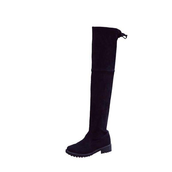 Botas clásicas de diseño para mujer hasta el muslo. Botas cortas de algodón de felpa. Botas de algodón cálidas y cómodas de moda Envío gratuito