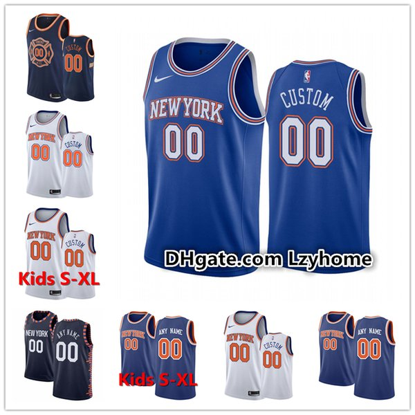 Encargo para hombre de Nueva JuventudYorkKnicks 30 Julio R. J. Randle RJ 9 Barrett Kevin Knox 20 13 23 Mitchell Morris Robinson jerseys del baloncesto