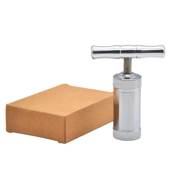 Molinillo triturador de la trituradora de la trituradora de la trituradora de tabaco de la hierba del tabaco del polen del compresor de la prensa del polen del acero inoxidable para Bisha Shisha