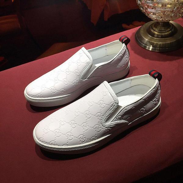 Moda size38-45 Casual ayakkabılar hakiki deri Kabartma Lüks Sneaker Erkek Ayakkabı kaliteli erkek makosenler ayakkabı mens
