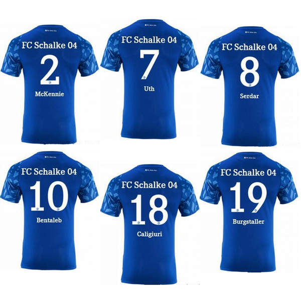 2019 2020 Schalke 04 HOME 19 20 thailand quality soccer jersey shirt kit camiseta de futbol camisa de futebol maillot de foot