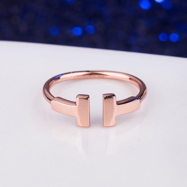 anel de ouro Rose nenhum diamante