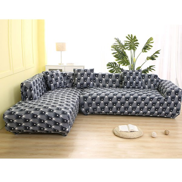 Elastic Sofa Cover Cotton It Needs Order Covers For L Shape Corner  Sectional Sofa Cover For Living Room Solid Color Table And Chair Covers For  ...