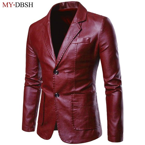 Fashion Mens Leather Jacket Business Casual Coat Brand High Quality PU Outerwear Man Faux Fur Moto biker Jackets Plus Size S-7XL