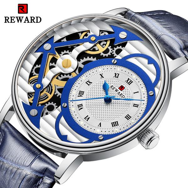 REWARD Relojes Hombres Deporte Impermeable Cuarzo Relojes para hombres Mecánica Decoración de superficies Negocio Relogio Masculino