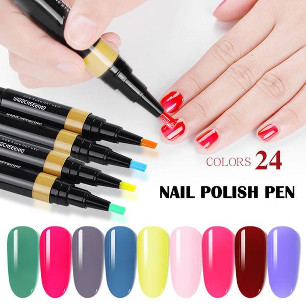 Haute Qualité Mode Femmes One-step Nail Glue Free Primer Free Seal Trois-en-un Nail Phototherapy Colle Outil 24 Couleurs SMJ