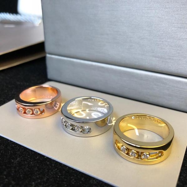Designer Rings Move Series Diamond Sliding Rings Luxury Fashion Accessories Paris Independent Designer Jewelry Mobile Diamonds