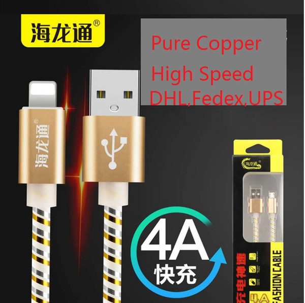 best selling Real AA fast charging fast DHL USB Cable durable good quality high speed real 5A not fake 5A