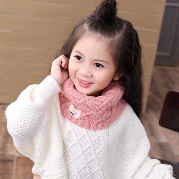 купить оптом 2018 новые дети вязаные шарфы зима теплая чистые цвета