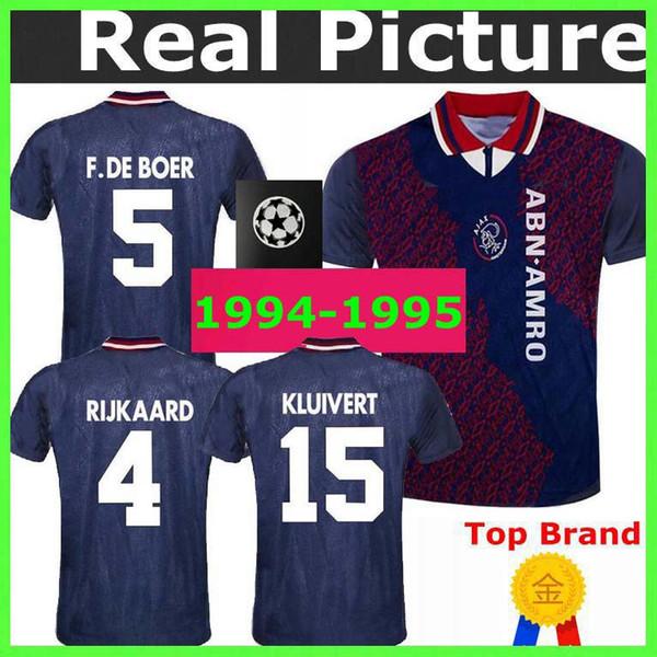 1994 1995 Ajax Retro camisa de futebol 94 95 RIJKAARD KLUIVERT LITMANEN DE BOER SEEDORF DAVIDS SEEDORF OVERMARS camisa de futebol clássico do vintage