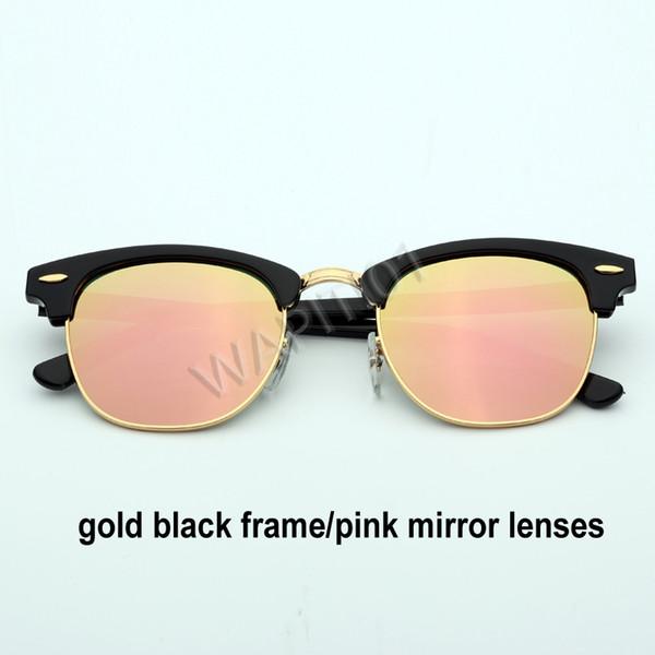 الذهب الوردي مرآة سوداء