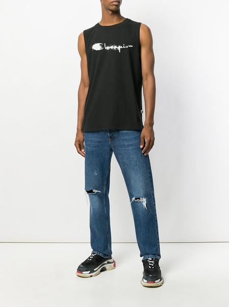 Marca de campeones camisetas sin mangas para hombre diseñador 19SS tendencia de moda camiseta sin mangas de impresión logotipo clásico logotipo de calidad superior camisetas sin mangas Casual Algodón camisetas