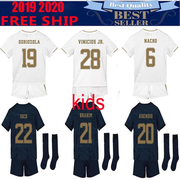 19 20 Real Madrid PERICOLO Home Kids kit pullover assente di calcio Thailandia 2019 MODRIC BALE Kroos ISCO Benzema 3rd ragazzi Football Shirts Mariano