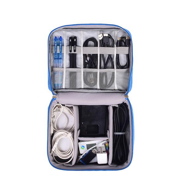 Seyahat Kablo Çanta Taşınabilir Dijital USB Gadget Organizatör Şarj Teller Kozmetik Fermuar Depolama Kılıfı kiti Durumda Aksesuarla ...