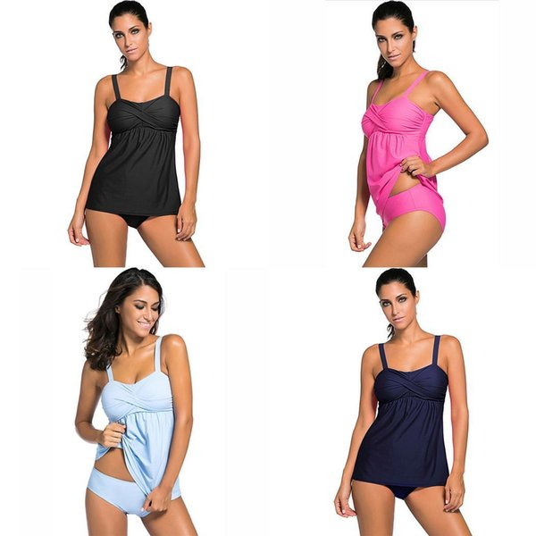 Moda Yeni Kadın Yaz Bölünmüş İki parçalı Mayo Katı Mayo Set Moda Yeni Ayrı Mayo