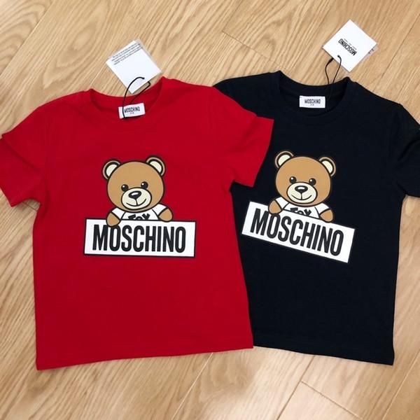 2019 new listing summer cute t-shirt high grade top quality Small Loose cute Comfortable Cartoon bear print