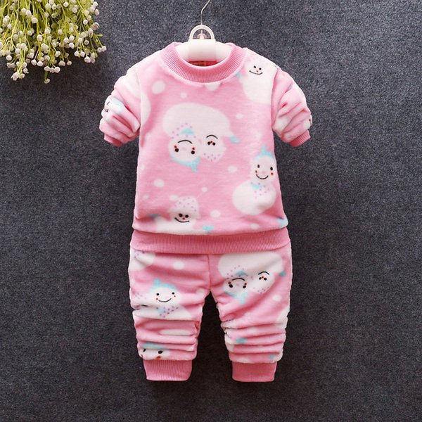 good quality spring autumn girls clothing sets cartoon flannel suits kids girls soft sleepwear outfits infant girls brand tracksuit