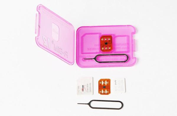 Rsim 12+ r sim 12+ RSIM12+ iphone unlock card for iPhone 8 iPhone 7 plus and i6 unlocked iOS 11.x-7.x 4G CDMA GSM WCDMA SB AU SPRINT DHL