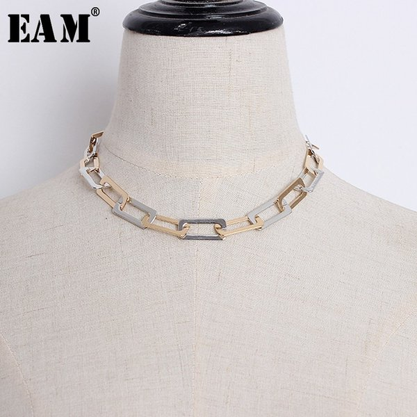 [eam] 2020 new fashion personality cool street hip hop wind chain necklace women's accessories s#n43510