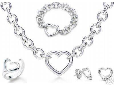 Designer Schmuck Herz Schloss Neue Schmuck Sets 925 Sterling Silber Armband und Halskette Sets Mode Damen Schmuck Sets mit Box Glitter2009