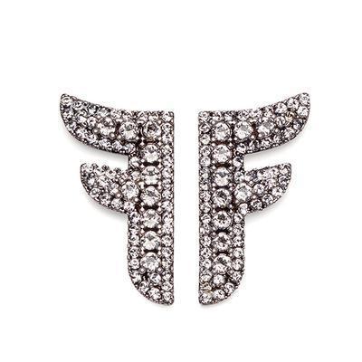 Exquis Marque Designer Boucles D'oreilles Unique Lettre F Boucles D'oreilles Brillant Diamant Femmes Boucles D'oreilles De Luxe Bijoux Cadeau Vente Chaude