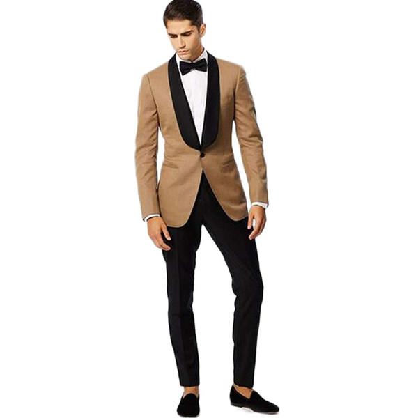 Moda Formal Casamento Smoking Um Botão Slim Fit Mens Designer Jaquetas Xale Lapel Prom Apenas Uma Peça Para O Desgaste Do Noivo