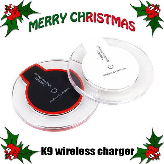 High Quality Qi Wireless Charger K9 Charging for Samsung S6 Edge s7edge s8 plus iphone8 X Fantasy High Efficiency Pad with Retail Package