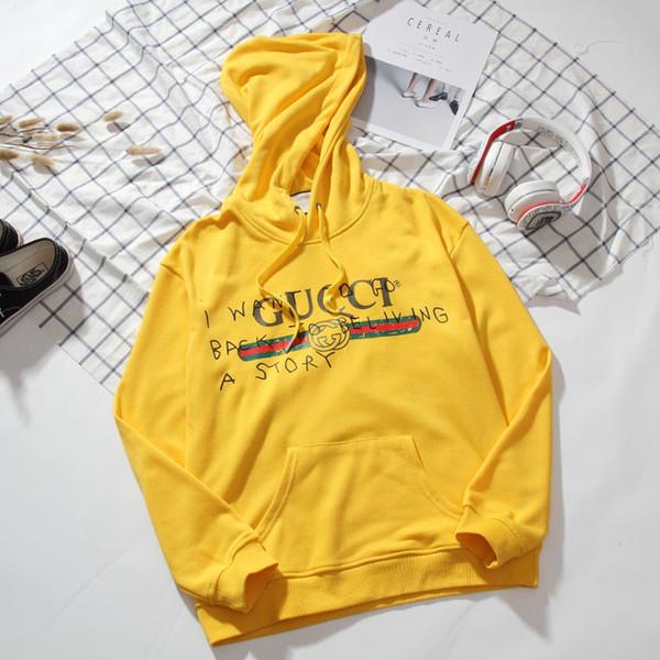 2019 nuovo arrivo superiore di lusso Designers Uomo marchio di abbigliamento Via cappuccio manica lunga Felpe Medusa Jumper