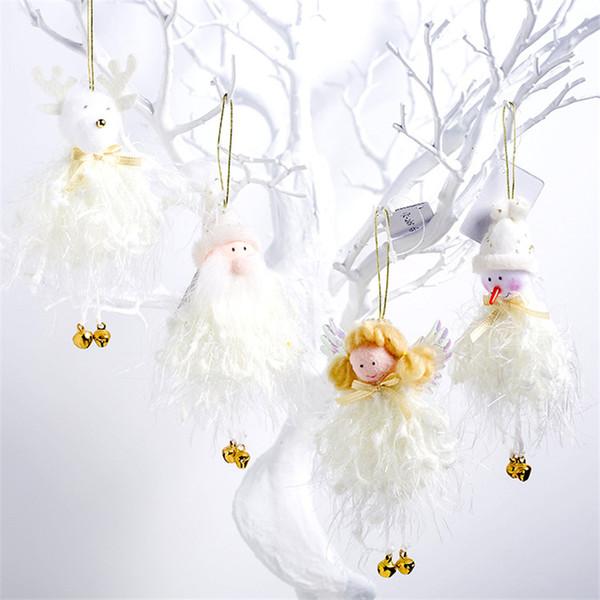 2020 Ano Novo Natal Anjo Bonito Papai Noel Bonecos de Pelúcia Enfeite de Árvore de Natal Pingente Decoração de Festa para Casa