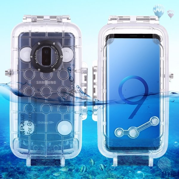 Puluz For Samsung Galaxy S9 / S9+ Diving Case 40m/130ft Waterproof Housing Photo Video Taking Underwater Case Snorkeling Cover J190701