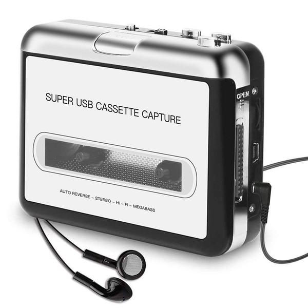 USB 2.0 MP3 Kaydedici Oynatıcı Bant PC Süper Müzik Kaset Müzik Dijital Çalar Dönüştürücü Yakalama Kaydedici