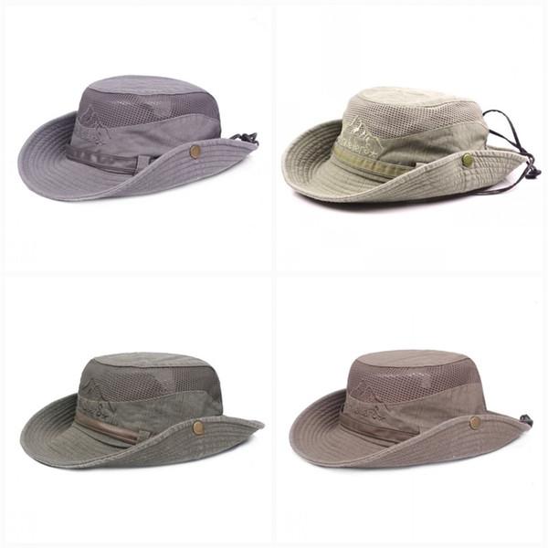 Gezgin Güneş Şapka Curling Renk Mix Net Dağ Tırmanma Cimri Ağız Şapka Erkekler Ve Kadınlar Evrensel Popüler Kova Caps 18xjE1