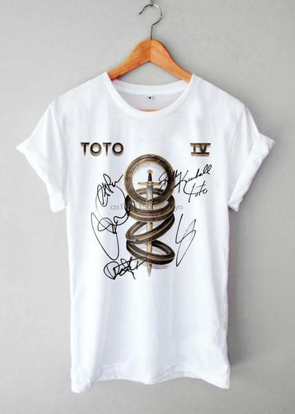 Graphic Toto autografato Logo T-shirt manica corta da uomo Stampe di moda Top in cotone Nero Taglia S 3Xl