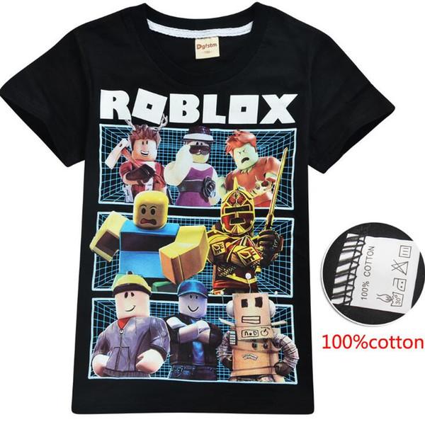 2020 Roblox Cartoon Childrens T Shirt Boys Short Sleeve Top Boy