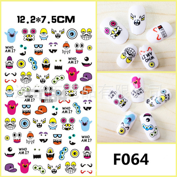 Nail Water Stickers Nail Stickers Adhesive 3D Cartoon Pregnant Woman Child Manicure Sticker Nail Decal
