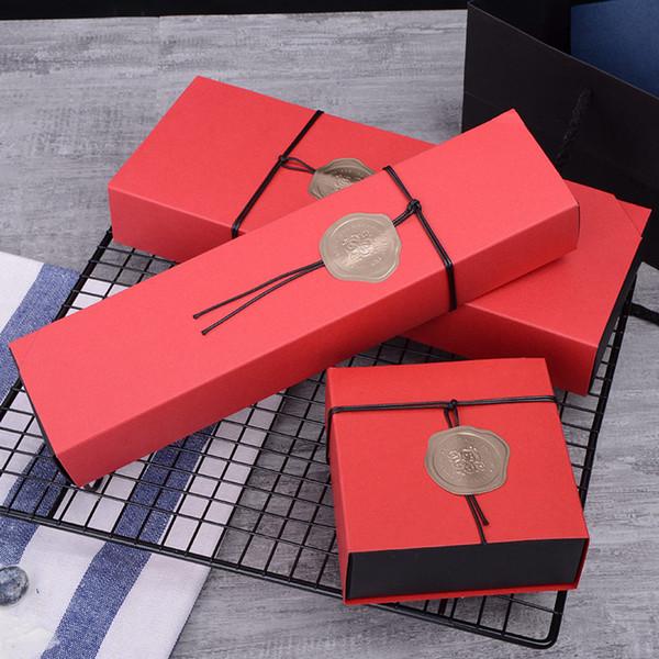 KANGZHUANG 10 teile / los Valentinstag Geschenkboxen Kraftpapier Handgefertigte Süßigkeiten / Schokolade Verpackung Boxen DIY Koffer leere aufbewahrungsbeutel