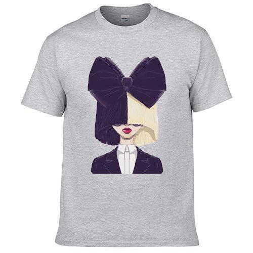 Sia Kate Isobelle Furler Müzik T Shirt Doğrudan Üretici 203037 Tarzı Yuvarlak Stil tshirt