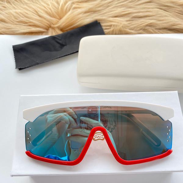 белый красный с голубым зеркальным объективом