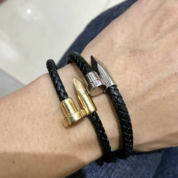 2019 Fashion Pu Leather Bracelets for man classic style Two laps many colors as gift