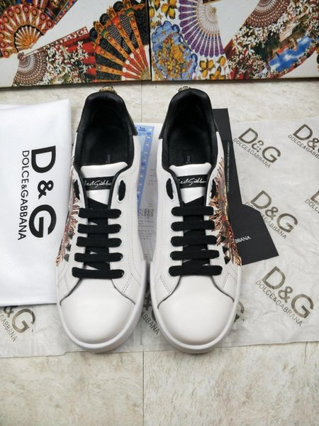2019l summer top luxury designer men's and women's leather casual shoes, high quality couple shoes fashion wild sports shoes, size: 35-45