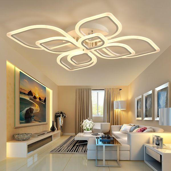 2019 Delin Creative Simple Led Chandeliers Ceiling Modern Chandelier For  Living Room Lights Bedroom Light Fixtures Led Chandelier Lighting From  Delin, ...