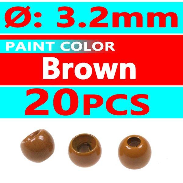 20pcs brown 3.2mm