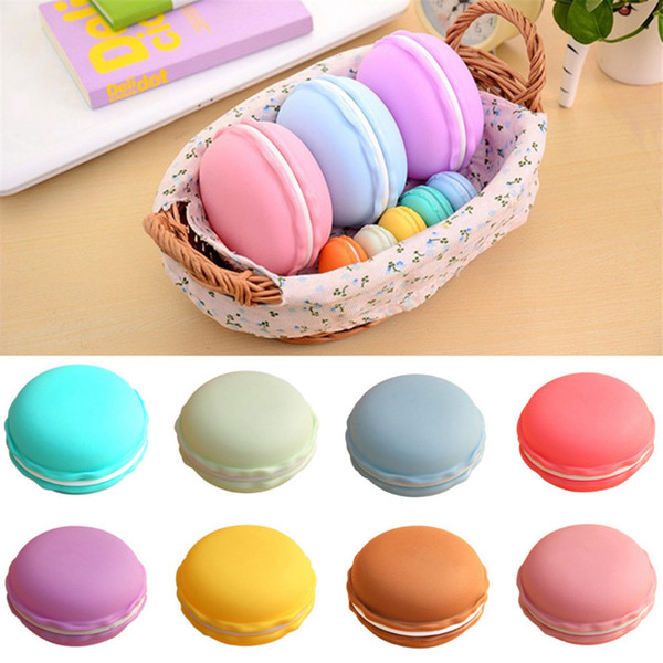 2018 New High Capacity 8Colors 10 x 5cm 1pc Earphone SD Card Macarons Bag Big Storage Box Case Carrying Pouch