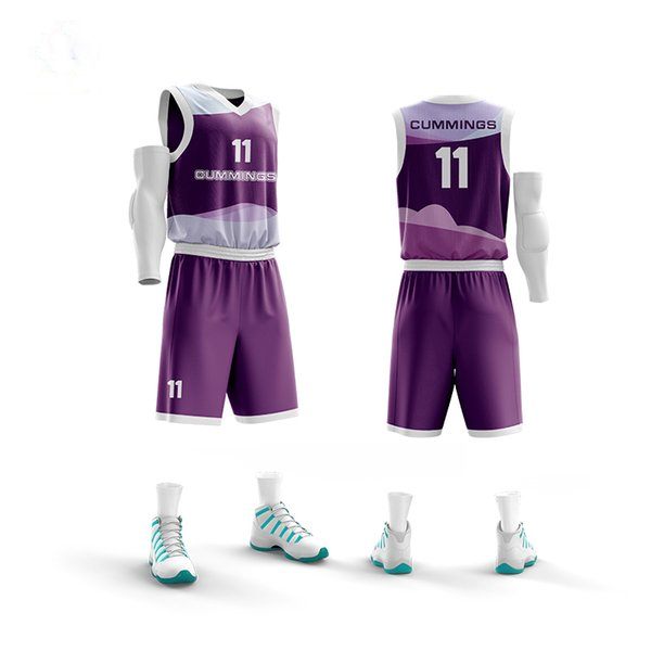Quick Dry Men's Outdoors Basketball Jersey Sets Breathable Blank Basketball Jersey Uniforms Sports Training Clothing Suits