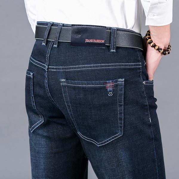 Men's Jeans Homme Straight Biker Moto Jean Pants Classic Calca Masculina Male Mannen Vaqueros Skinny Pantalon Slim Fit Y19060501