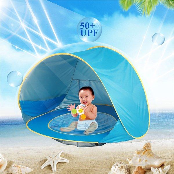 Infant UV Protection Piscine Soleil Abri Été Enfants Bébé Plage Tente Portable Piscine Ombre En Plein Air Rose Bleu Orange